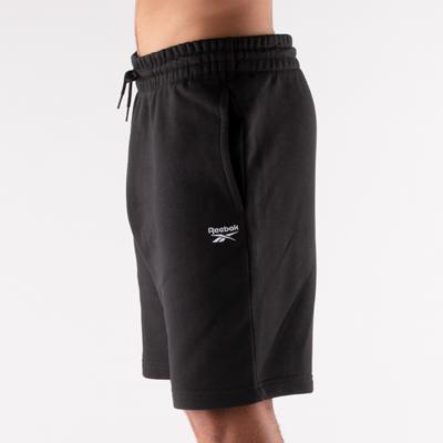 Alternate view of Mens Reebok Identity Fleece Shorts - Black