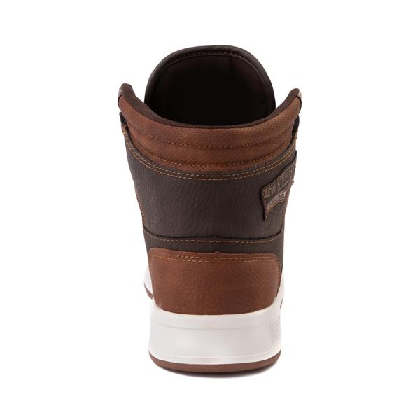 alternate view Mens Levi's 520 BB Hi Casual Shoe - BrownALT4