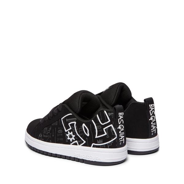 alternate view DC x Basquiat Court Graffik Skate Shoe - Little Kid / Big Kid - BlackALT4