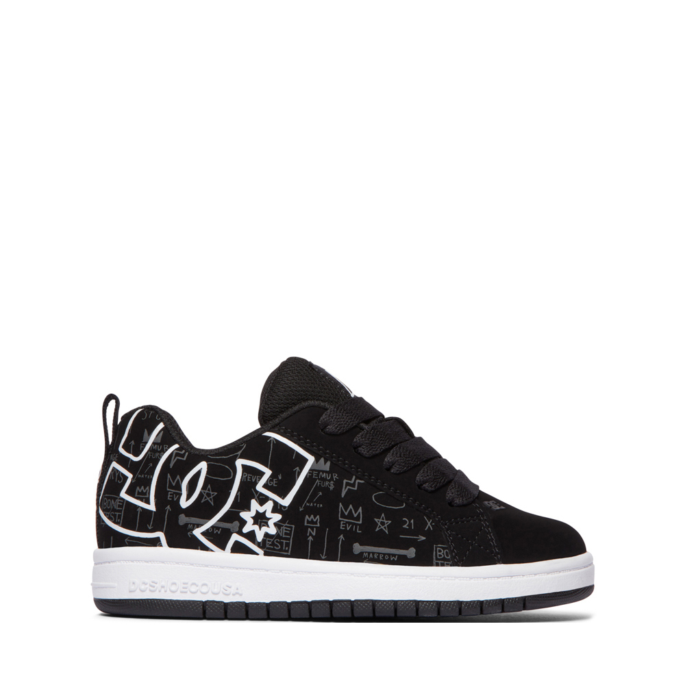 DC x Basquiat Court Graffik Skate Shoe - Little Kid / Big Kid - Black