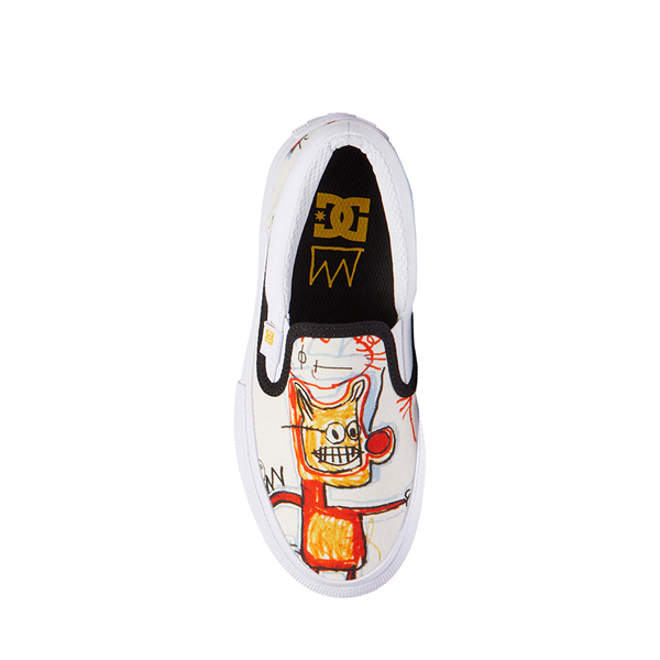 alternate view DC x Basquiat Manual Slip On Skate Shoe - Little Kid / Big Kid - White / MulticolorALT2