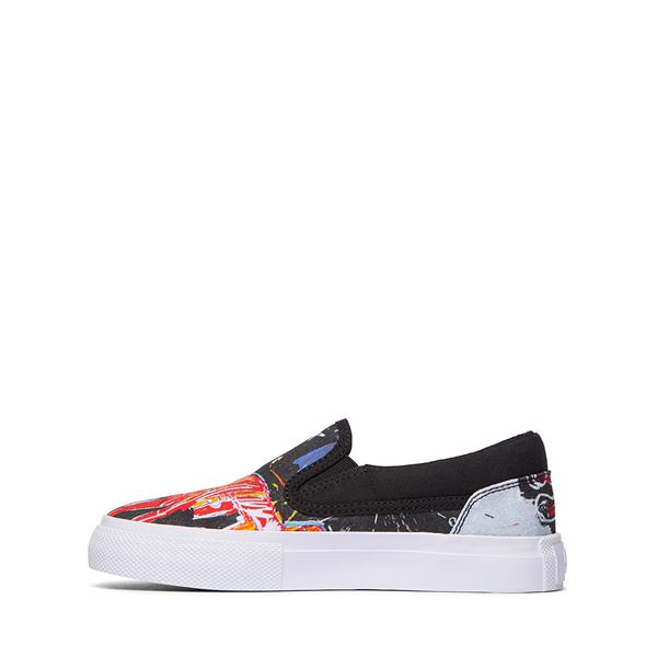 alternate view DC x Basquiat Manual Slip On Skate Shoe - Little Kid / Big Kid - Black / MulticolorALT1