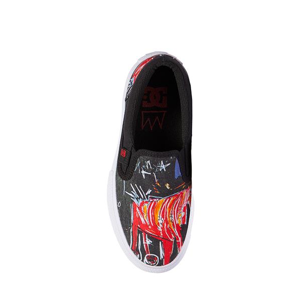 alternate view DC x Basquiat Manual Slip On Skate Shoe - Little Kid / Big Kid - Black / MulticolorALT2