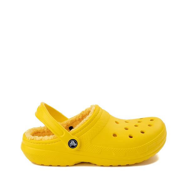 Main view of Crocs Classic Fuzz-Lined Clog - Lemon