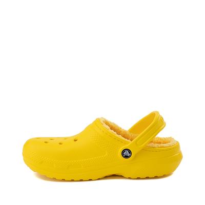 Alternate view of Crocs Classic Fuzz-Lined Clog - Lemon