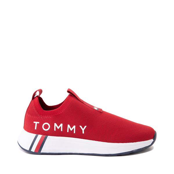 Main view of Womens Tommy Hilfiger Aliah Slip On Athletic Shoe - Red