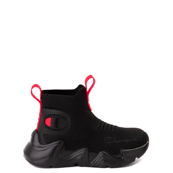 Main view of Champion Hyper C Raw Athletic Shoe - Baby / Toddler - Black / Scarlet