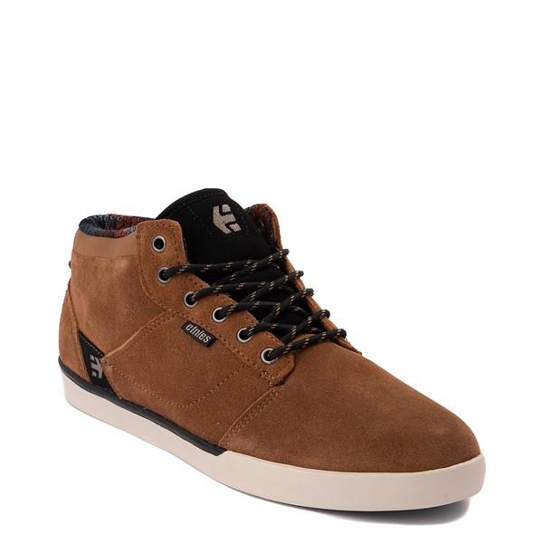 alternate view Mens etnies Jefferson Mid Skate Shoe - BrownALT5