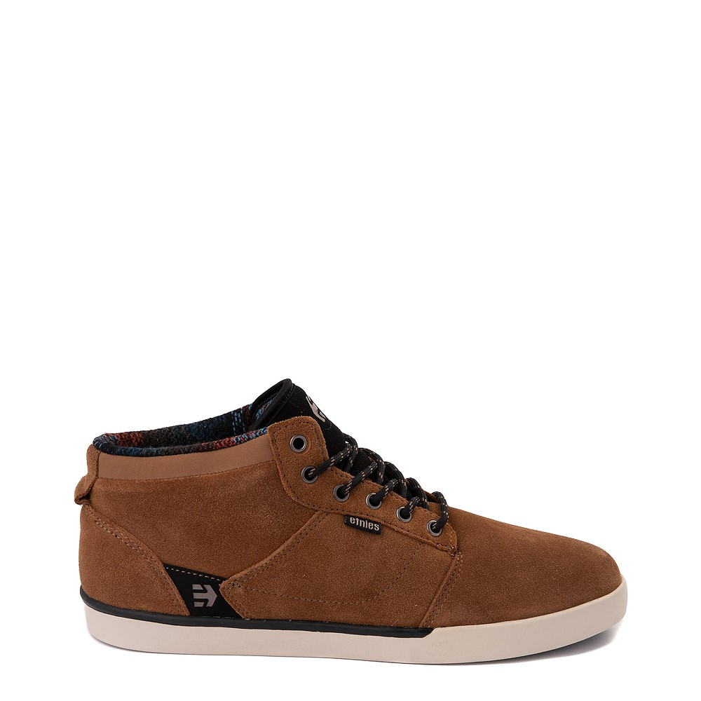 Mens etnies Jefferson Mid Skate Shoe - Brown