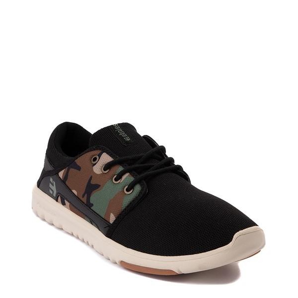 alternate view Mens etnies Scout Skate Shoe - Black / CamoALT5