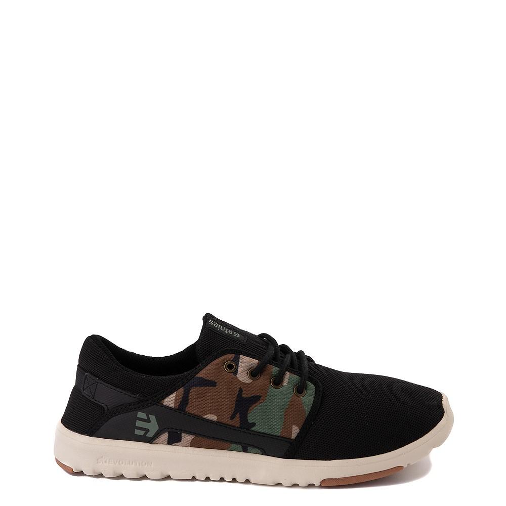 Mens etnies Scout Skate Shoe - Black / Camo