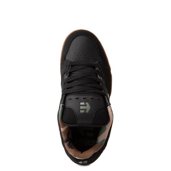 alternate view Mens etnies Faze Skate Shoe - Black / CamoALT2