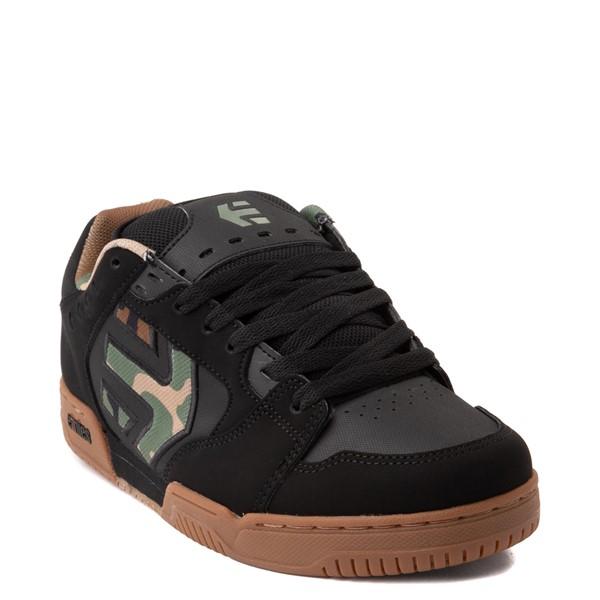 alternate view Mens etnies Faze Skate Shoe - Black / CamoALT5