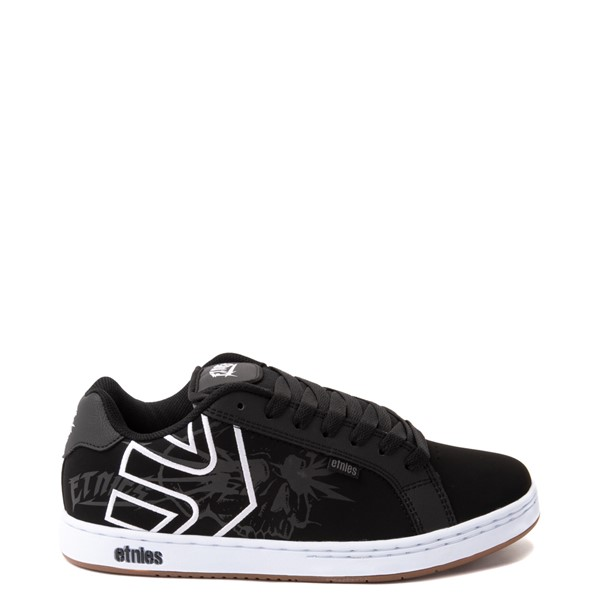 Mens etnies Fader Skate Shoe - Black / Skulls