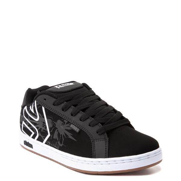 alternate view Mens etnies Fader Skate Shoe - Black / SkullsALT5
