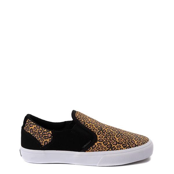 Main view of Womens etnies Marana Slip On Skate Shoe - Black / Leopard
