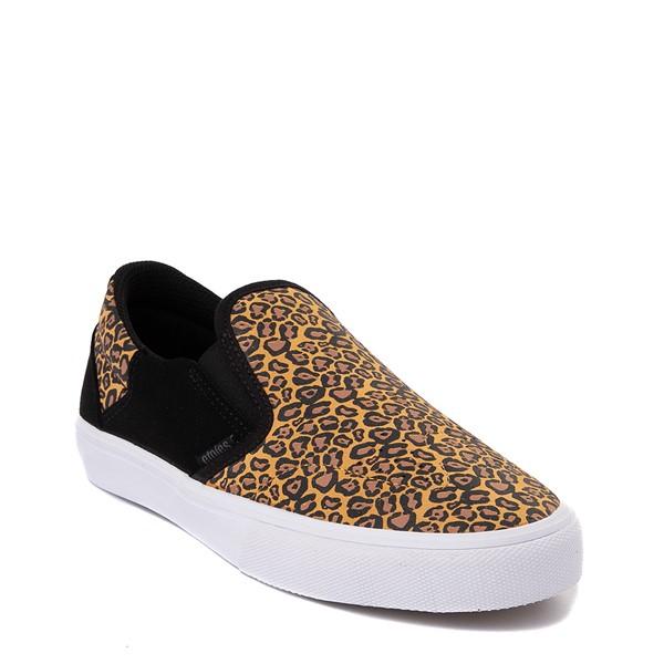 alternate view Womens etnies Marana Slip On Skate Shoe - Black / LeopardALT5