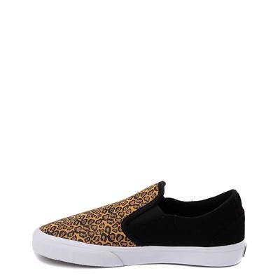 Alternate view of Womens etnies Marana Slip On Skate Shoe - Black / Leopard