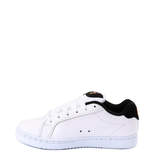 alternate view Womens etnies Fader Skate Shoe - White / LeopardALT1
