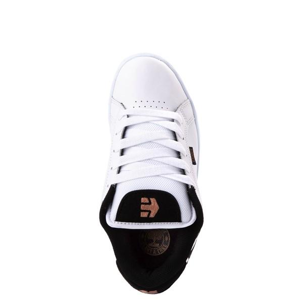 alternate view Womens etnies Fader Skate Shoe - White / LeopardALT2