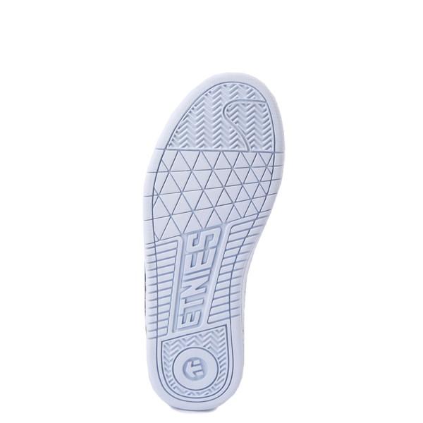 alternate view Womens etnies Fader Skate Shoe - White / LeopardALT3