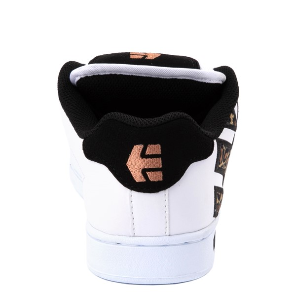 alternate view Womens etnies Fader Skate Shoe - White / LeopardALT4