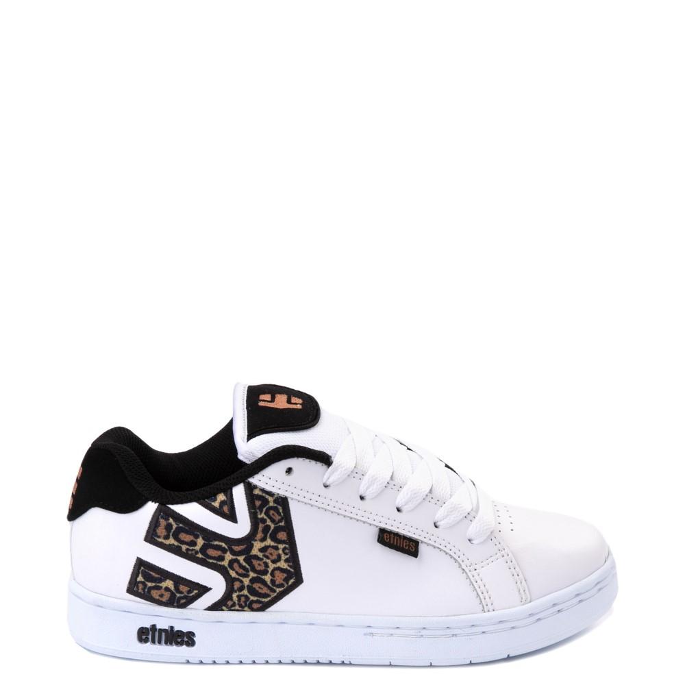 Womens etnies Fader Skate Shoe - White / Leopard