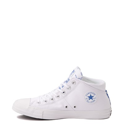 Alternate view of Womens Converse Chuck Taylor All Star Madison Floral Fusion Hi Sneaker - White / Royal Blue