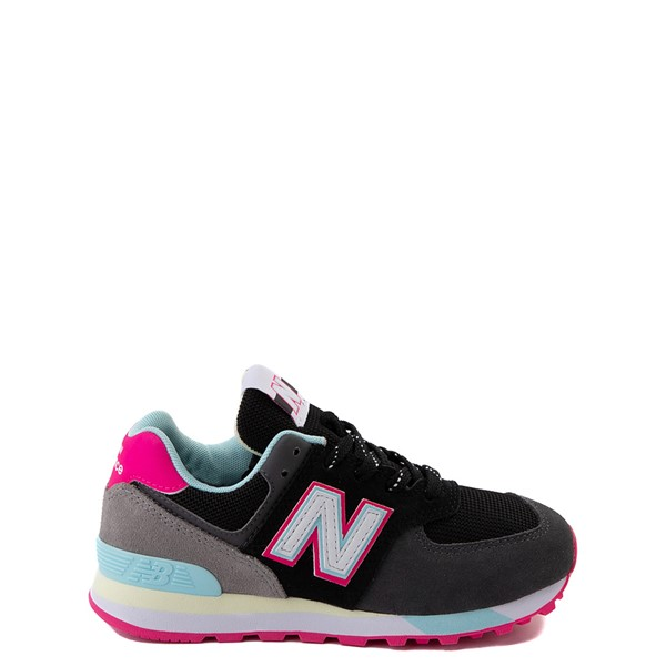 Main view of New Balance 574 Athletic Shoe - Little Kid - Black / Pink Glow