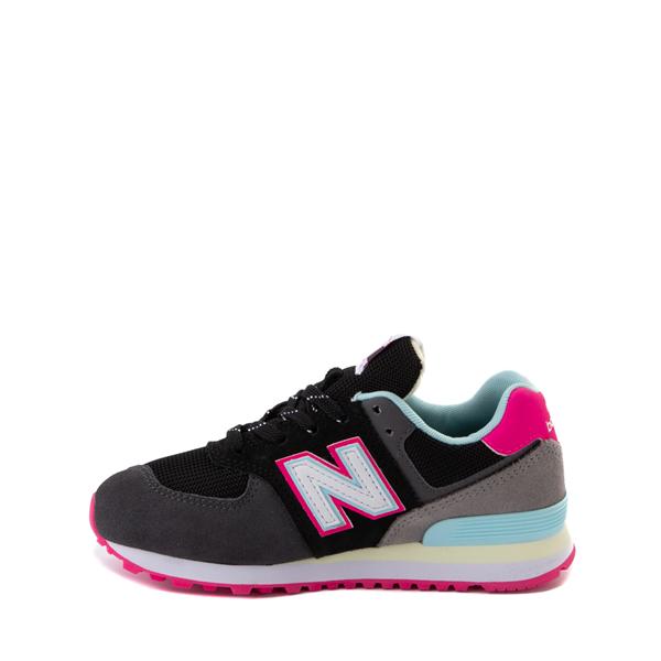 alternate view New Balance 574 Athletic Shoe - Little Kid - Black / Pink GlowALT1
