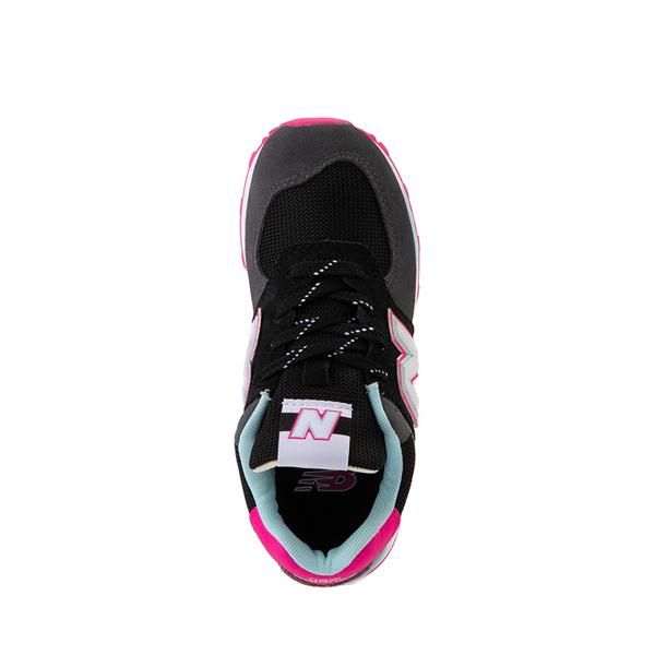 alternate view New Balance 574 Athletic Shoe - Little Kid - Black / Pink GlowALT2