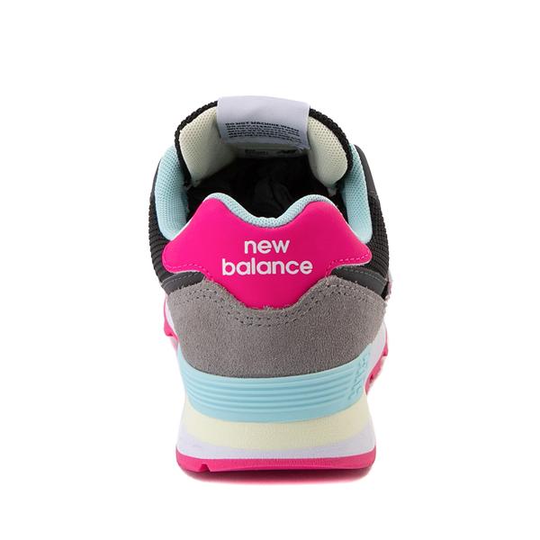 alternate view New Balance 574 Athletic Shoe - Little Kid - Black / Pink GlowALT4