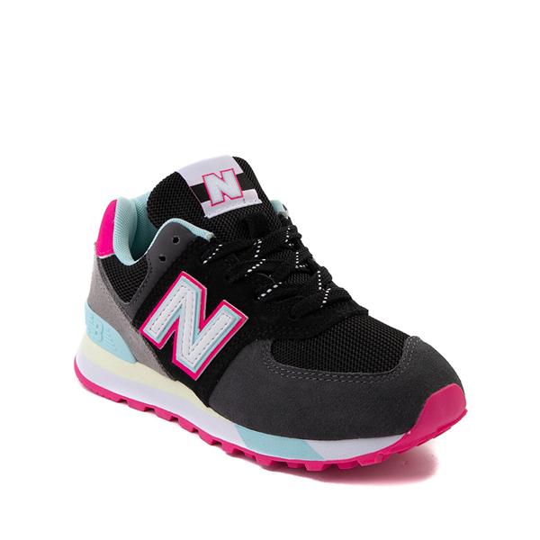 alternate view New Balance 574 Athletic Shoe - Little Kid - Black / Pink GlowALT5