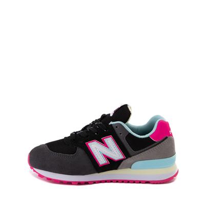 Alternate view of New Balance 574 Athletic Shoe - Little Kid - Black / Pink Glow