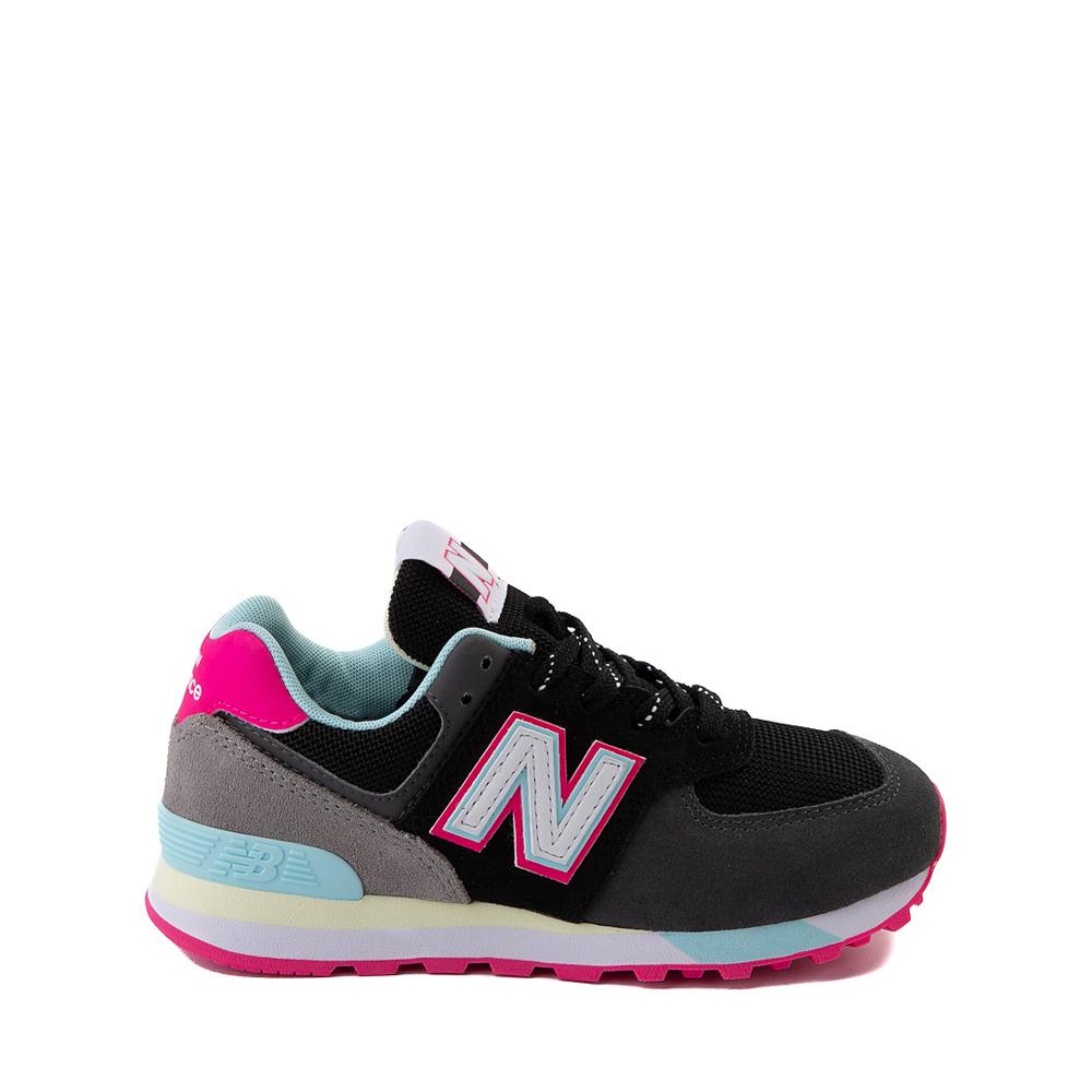 New Balance 574 Athletic Shoe - Little Kid - Black / Pink Glow