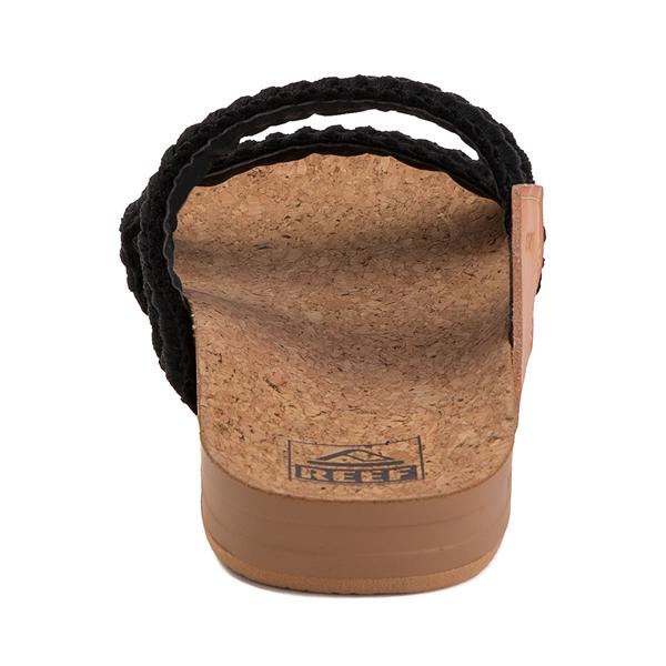 alternate view Womens Reef Cushion Vista Thread Sandal - BlackALT4