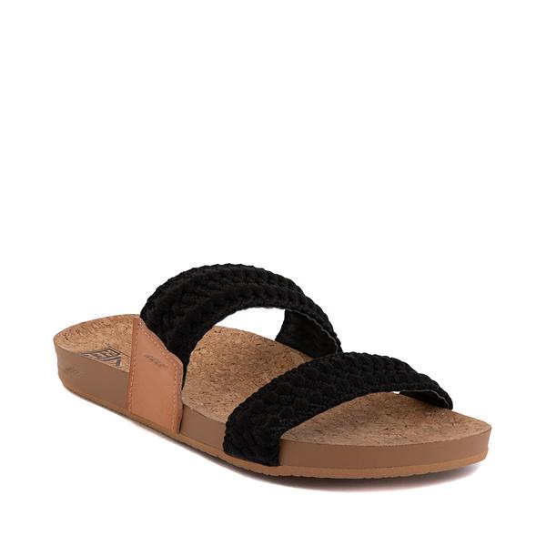 alternate view Womens Reef Cushion Vista Thread Sandal - BlackALT5