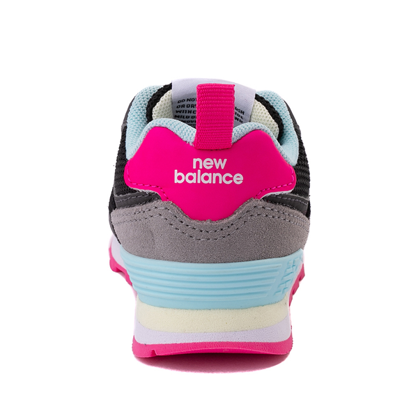 alternate view New Balance 574 Athletic Shoe - Baby / Toddler - Black / Pink GlowALT4