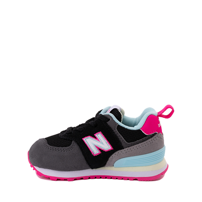 Alternate view of New Balance 574 Athletic Shoe - Baby / Toddler - Black / Pink Glow
