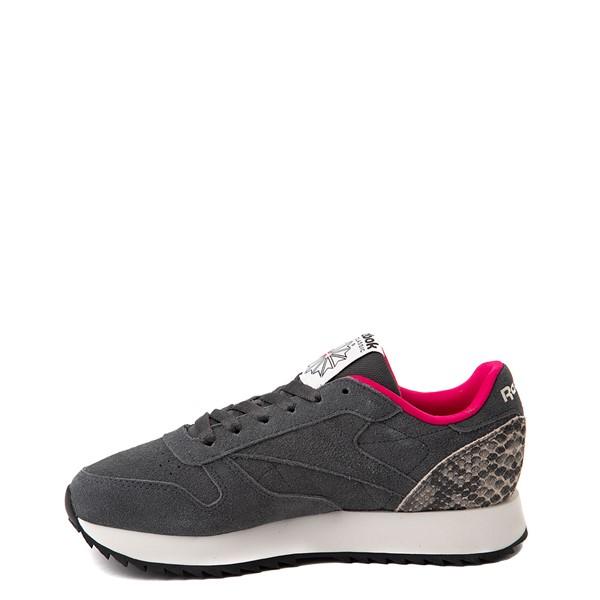 alternate view Womens Reebok Classic Leather Ripple Athletic Shoe - Gray / SnakeskinALT1