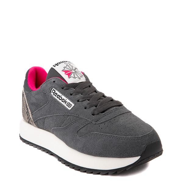 alternate view Womens Reebok Classic Leather Ripple Athletic Shoe - Gray / SnakeskinALT5
