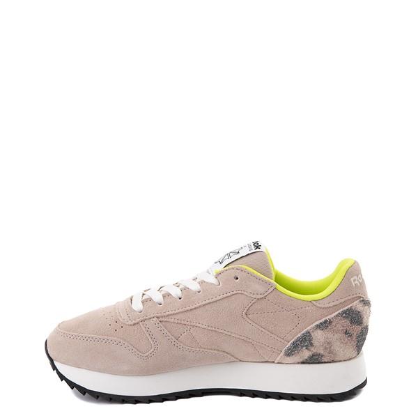 alternate view Womens Reebok Classic Leather Ripple Athletic Shoe - Modern Beige / LeopardALT1