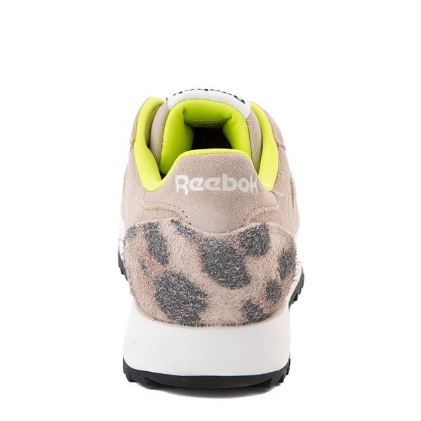 alternate view Womens Reebok Classic Leather Ripple Athletic Shoe - Modern Beige / LeopardALT4