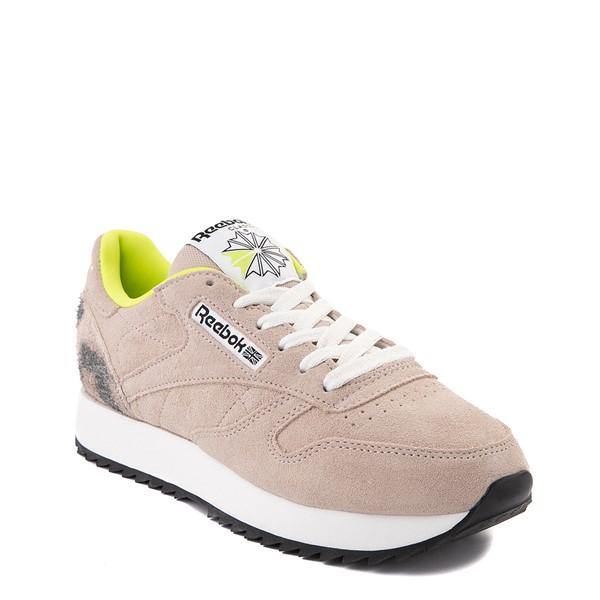 alternate view Womens Reebok Classic Leather Ripple Athletic Shoe - Modern Beige / LeopardALT5