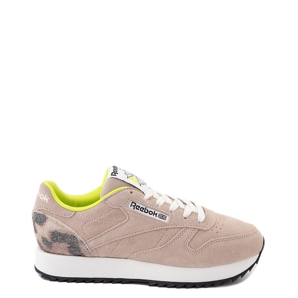 Womens Reebok Classic Leather Ripple Athletic Shoe - Modern Beige / Leopard