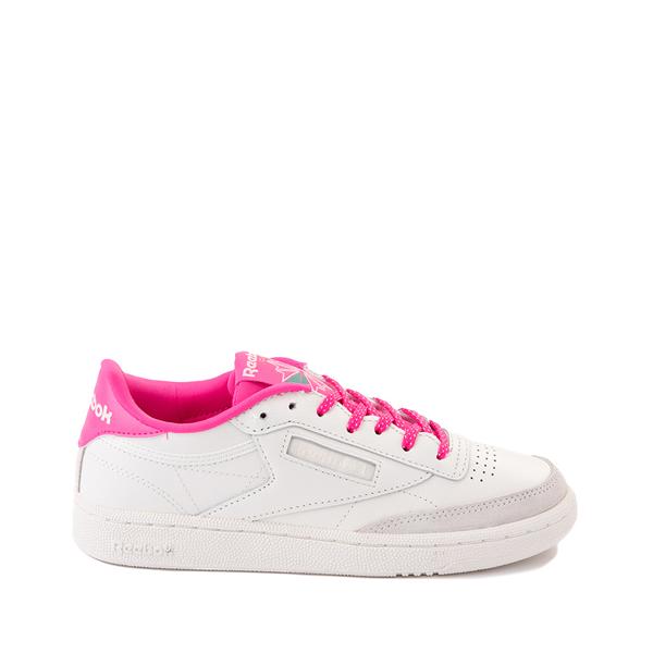 Womens Reebok Club C 85 Athletic Shoe - Chalk / Atomic Pink