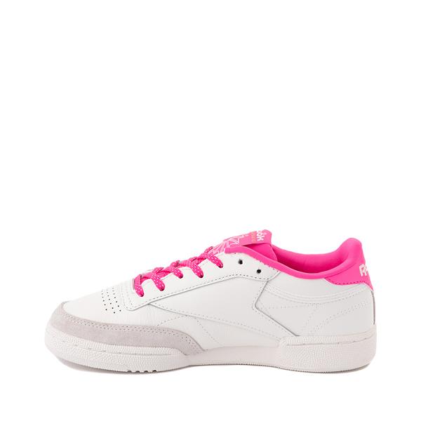 alternate view Womens Reebok Club C 85 Athletic Shoe - Chalk / Atomic PinkALT1