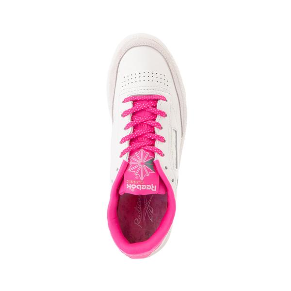 alternate view Womens Reebok Club C 85 Athletic Shoe - Chalk / Atomic PinkALT2