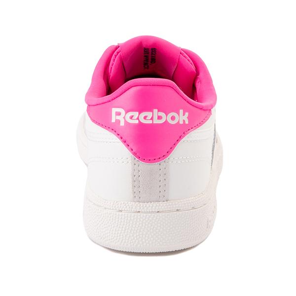 alternate view Womens Reebok Club C 85 Athletic Shoe - Chalk / Atomic PinkALT4