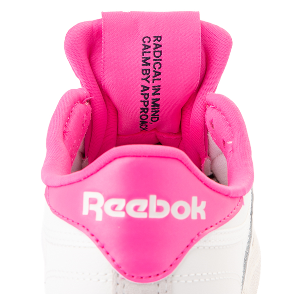 alternate view Womens Reebok Club C 85 Athletic Shoe - Chalk / Atomic PinkALT4B